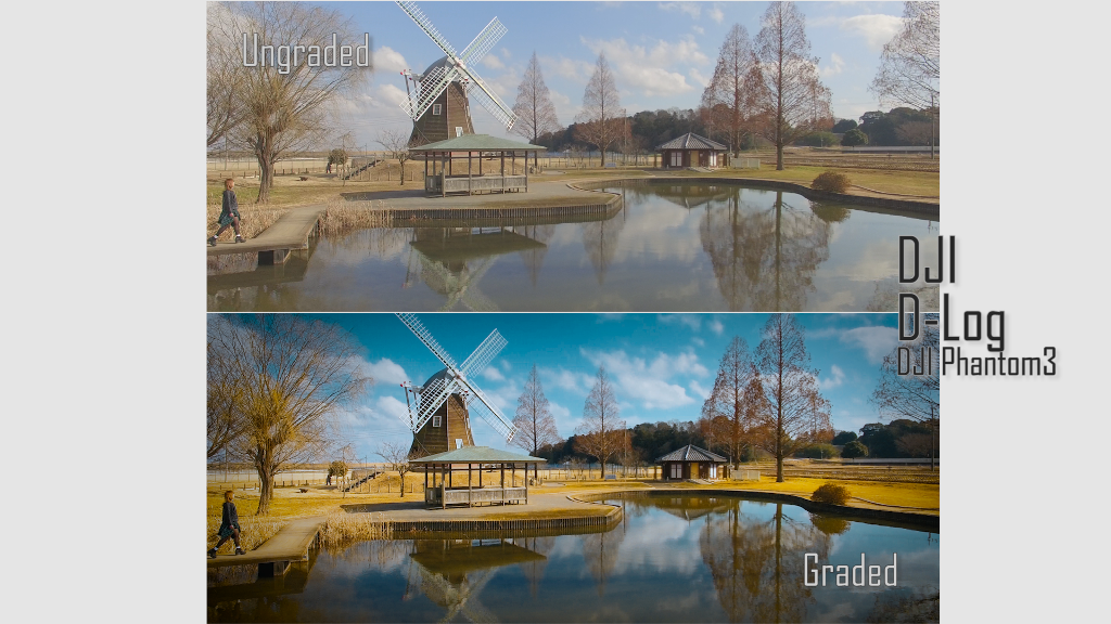 Color Grading Tips and Example – DJI D-Log and Panasonic V-Log